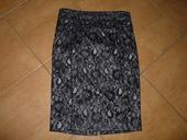 černá krajková společenská sukně, 38
