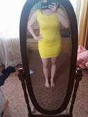 sytě žluté šaty s holými zády vel. 38-40, 38