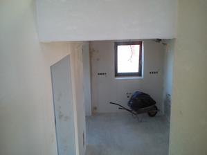 kuchyňa - pohľad zo schodiska