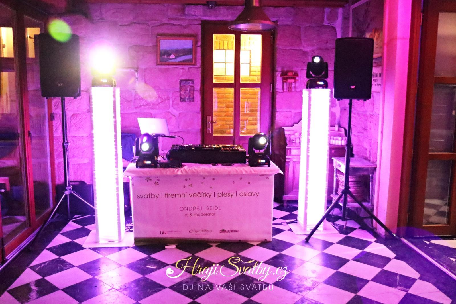 djmech - Svatební setup v restauraci Agarden v Bosni u Mnichova Hradiště