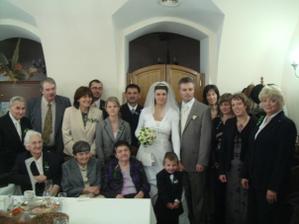 ... a ještě jedna rodinná fotka s těmi, kdo se nevešli na hromadné focení :-)