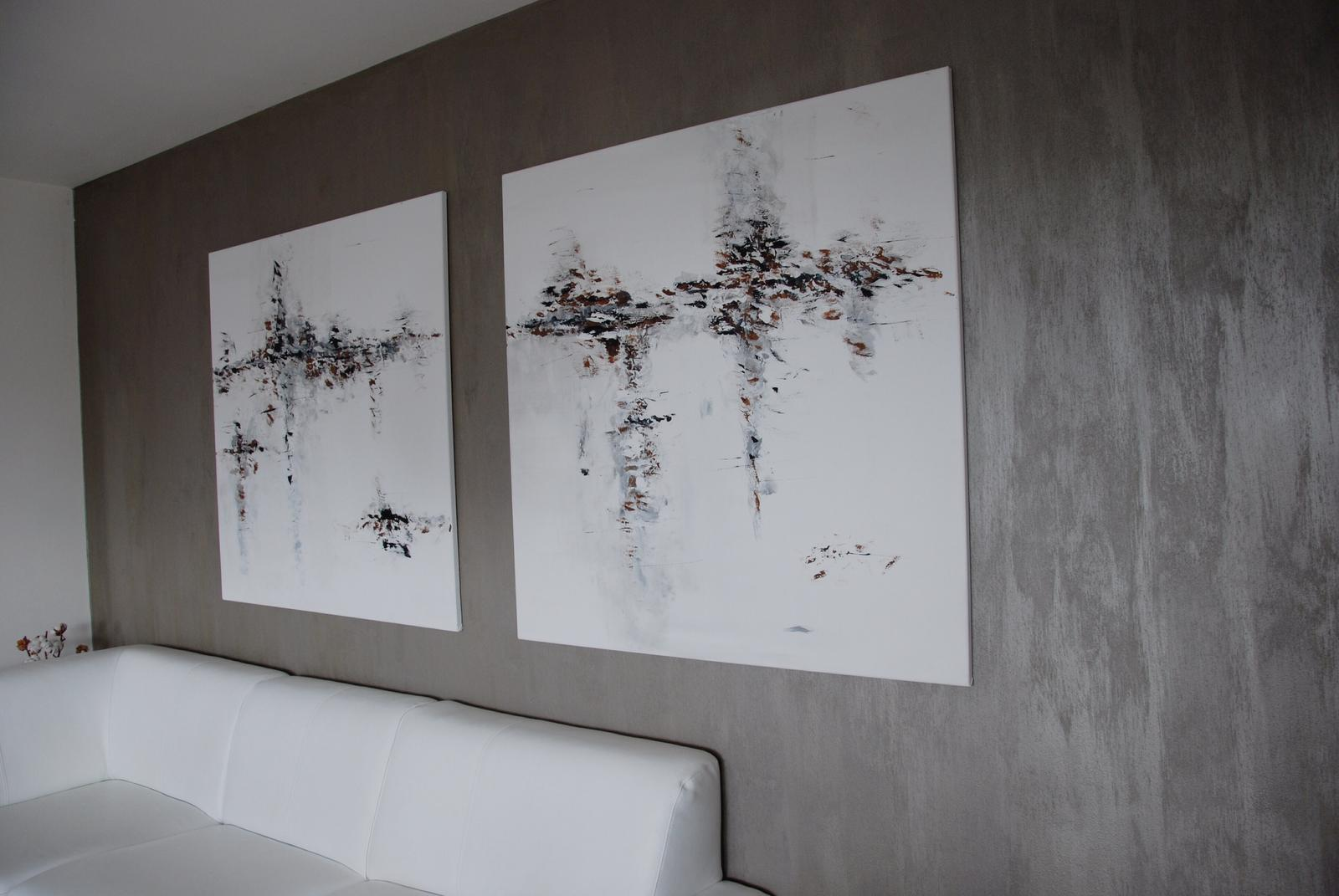Mé obrazy v interiérech - Podzimní romance- na prodej