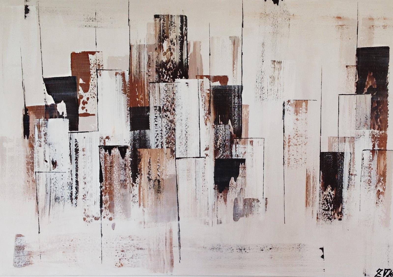 Obrazy na zakázku - Karamelové město III., 130x80 cm