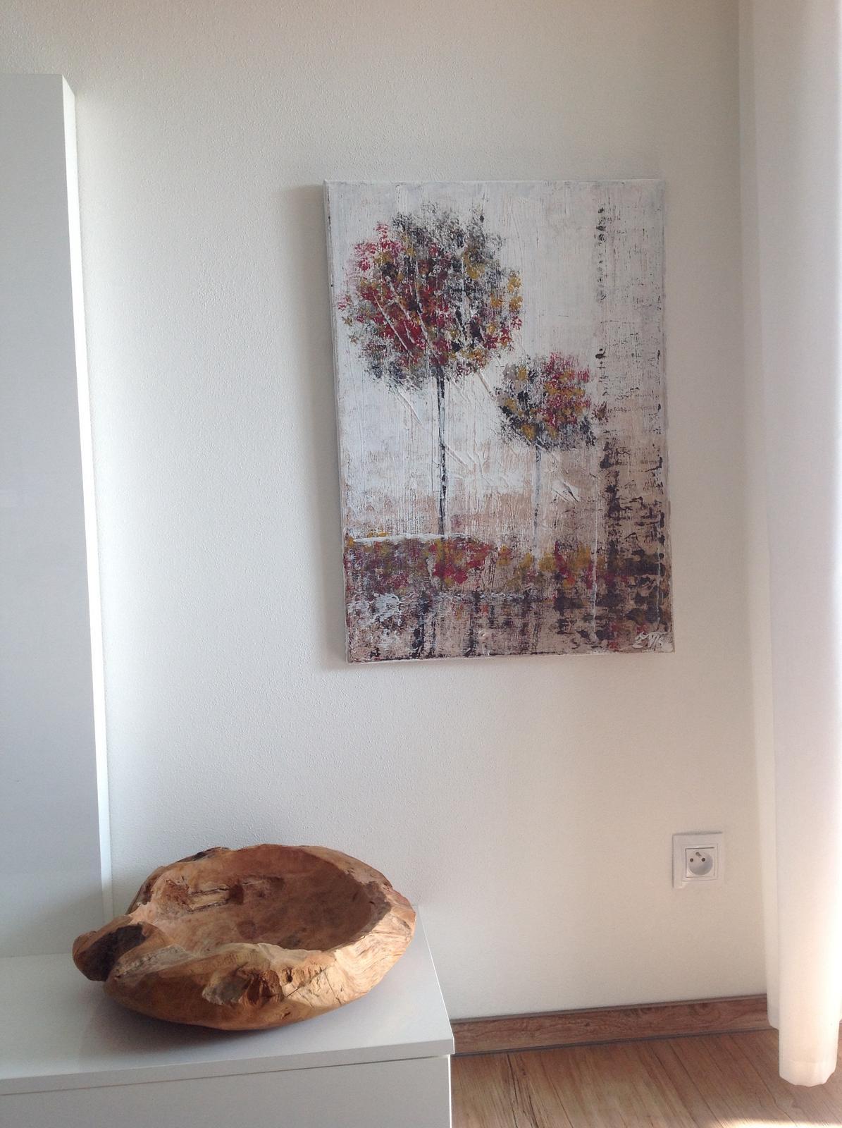 Mé obrazy v interiérech - Na podzim, akryl 2016, 50x70 cm, cena 2800Kč