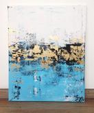 Azurové pobřeží, akryl, 40x60 cm, cena na výstavě; 3600,-    nyní 1800,-