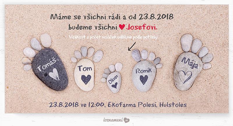 Svatební oznámení pro pro rodiny s dětmi - Svatební oznámení 177 – Oblázkové nožičky v písku (https://www.ioznameni.cz/produkt/svatebni-oznameni-177-oblazkove-nozicky-v-pisku)