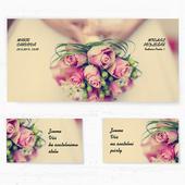 Svatební oznámení 137 - Svatební kytice,