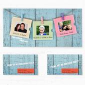 Svatební oznámení 138 - Tři fotky,