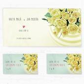 Svatební oznámení 133 - Kytice růží,