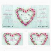 Svatební oznámení 134 - Růžové srdce,
