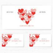 Svatební oznámení 121 - Srdíčkové srdce,