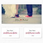 Svatební oznámení 3 - Červené tenisky,