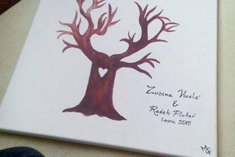 Svatební strom (od šikovné 15 leté ženichovy sestřičky ;)