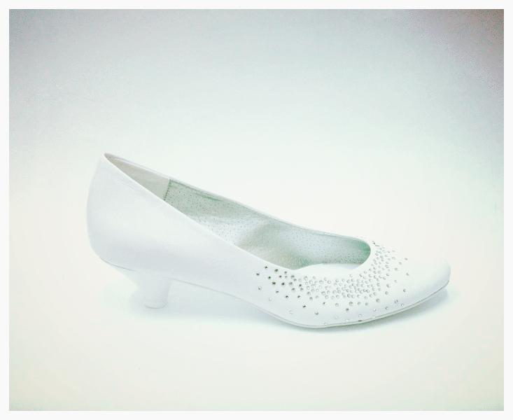 Svatební boty lodičky na nízkém podpatku 36 37 - Obrázek č. 1