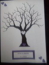 Náš strom na otisky prstů :-) (zatím jenom návrh, mám v plánu ho udělat na tvrdý, perleťový papír :-) )