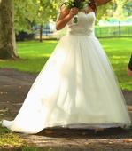 Jemné ľahučké svadobné šaty , 36