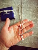 náhrdelník s náramkom Swarovski,