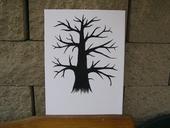 Svatební strom 30 x 40 cm ,