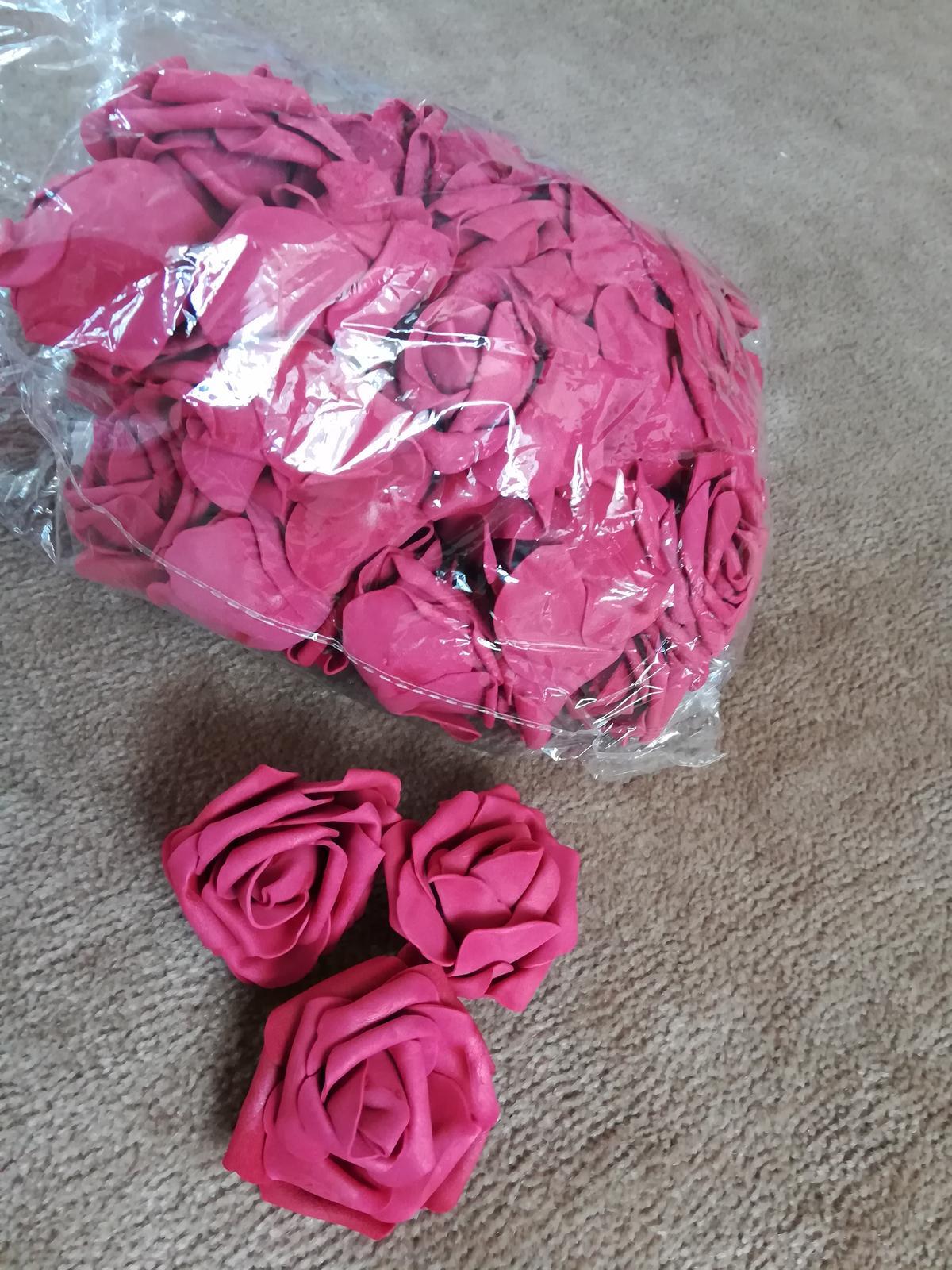 Penovy kvet ruze - vinova 50 Ks - Obrázek č. 1