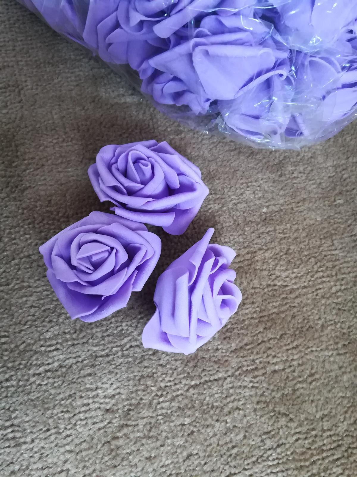 Penovy kvet ruze - fialova 50 Ks - Obrázek č. 1