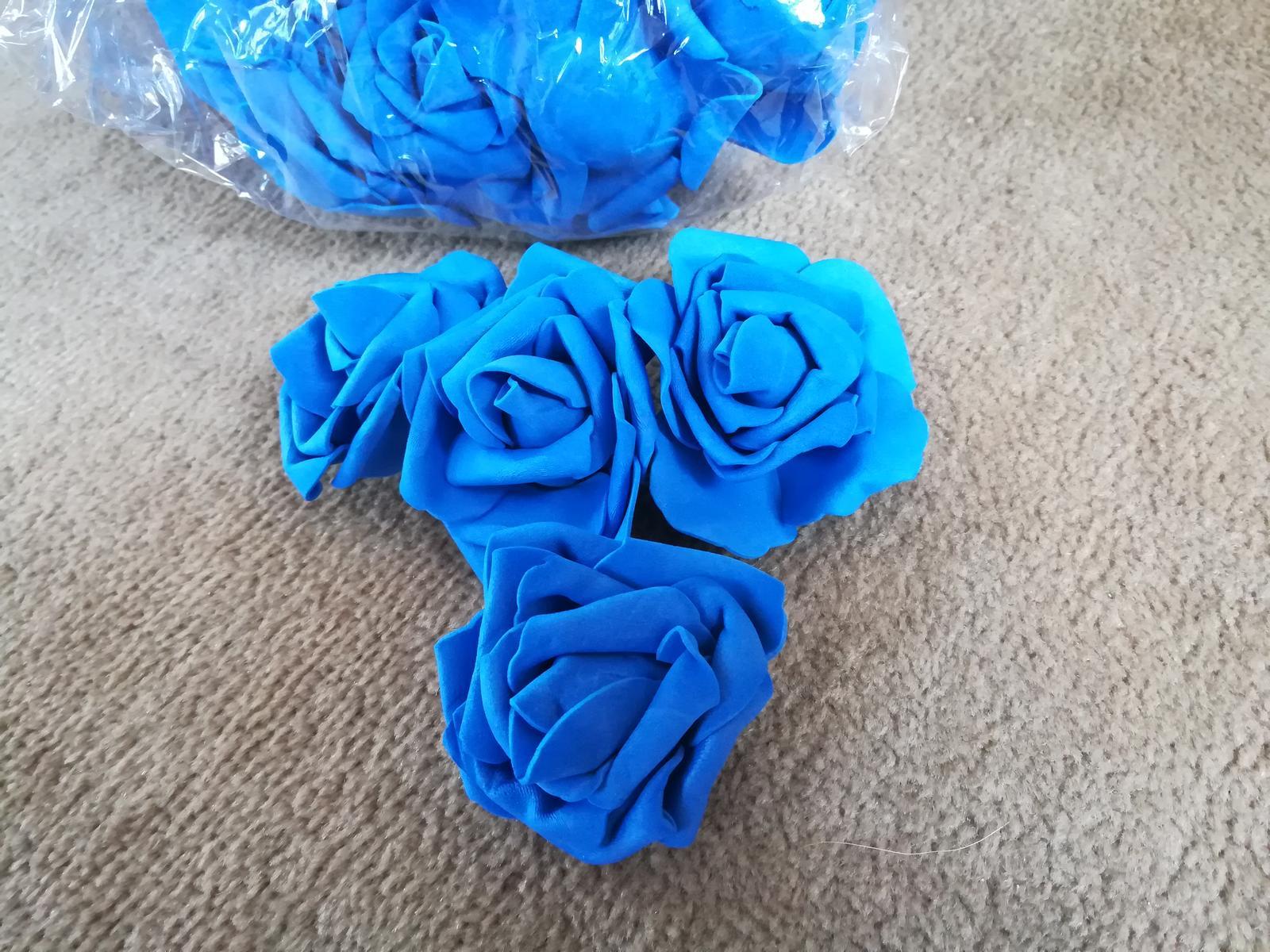 Penovy kvet ruze - modra 50 Ks - Obrázek č. 1