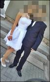 biele elegantné šaty, 36