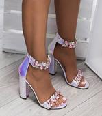 Spoločenské metalické sandálky, 38