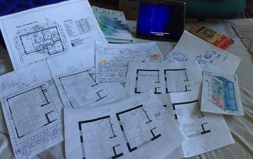 Miško bol na týždňovke, ja na PN, tak som sa venovala tej príjemnejšej činnosti.Behanie s metrom po rodič.dome,stovky článkov o tom aké miery a ako zariadiť kuchyňu.Potom všetko rozvrhnúť a momentálne si robím vizualizáciu na lepšiu predstavu