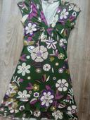Květované elastické letní šaty s volány, 36