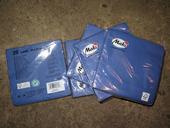 papírové ubrousky modré,