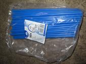plastová modrá brčka široká, 50 kusů,