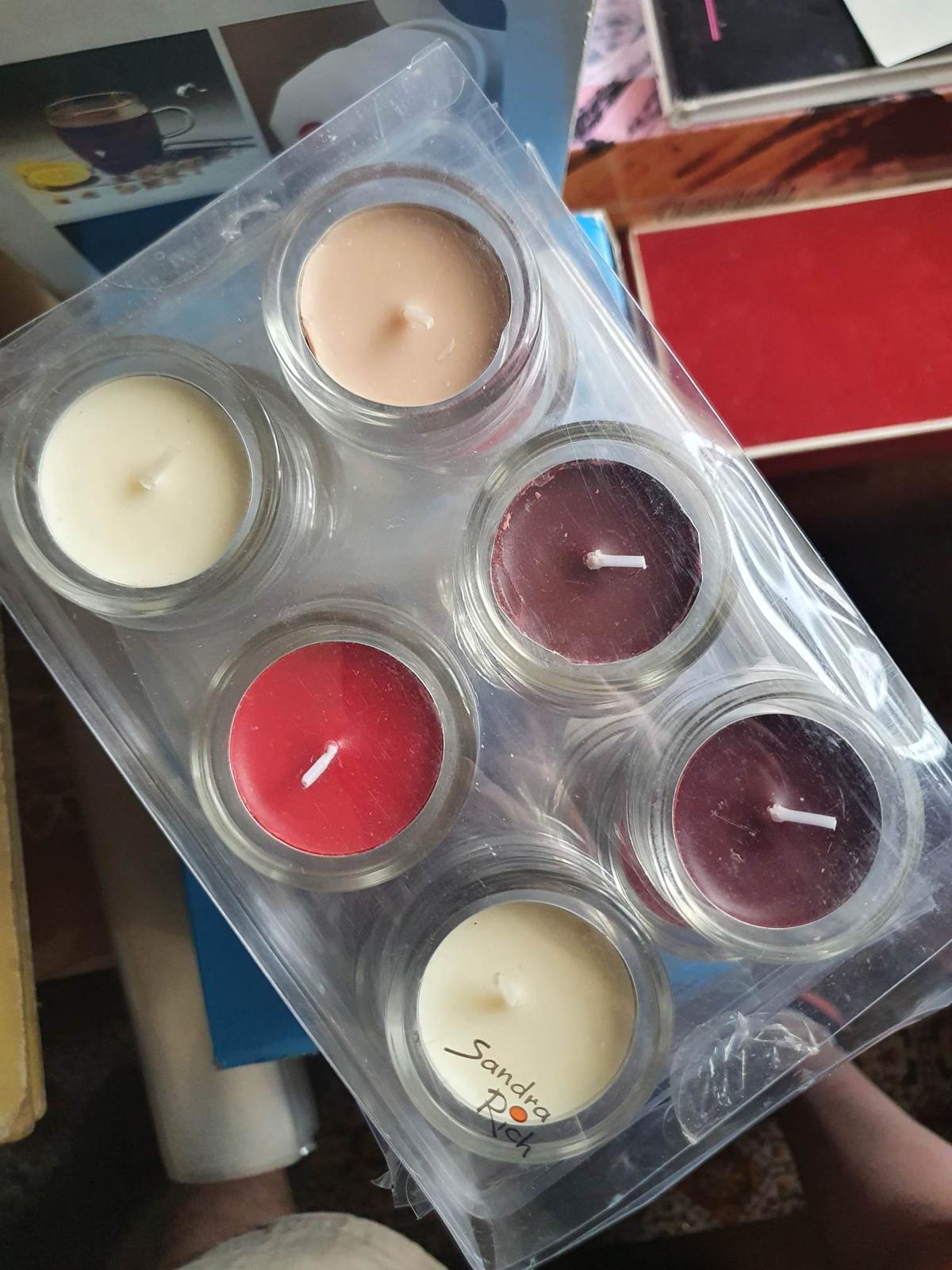 Skleněné svícny na čajové svíčky 36 ks - Obrázek č. 1