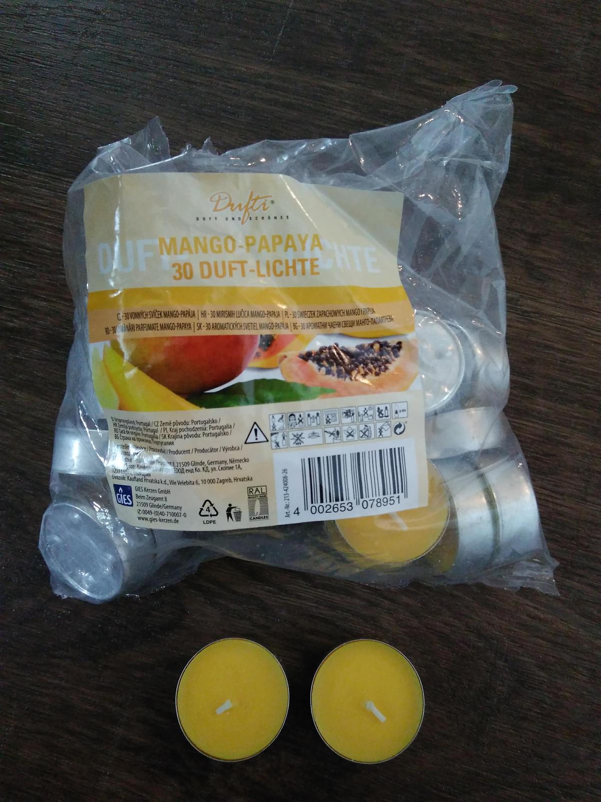 Vonné čajové svíčky žluté - Obrázek č. 1