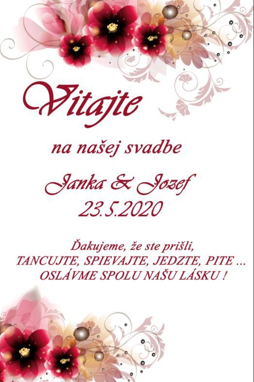 Uvítacie tabuľky na svadbu - Obrázok č. 2