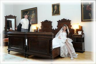 Náš zámecký pokoj rezervovaný pro svatební noc ;-)