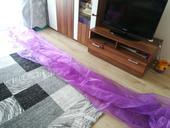 organza fialova pouzita 7x cca 3 metry,