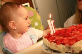 a naše Gábinka oslavila první narozeniny