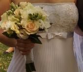 luxusní šaty španělské zn. White One vel. 36-38, 36
