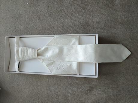 set pre ženícha (kravata, vreckovka) - Obrázok č. 1
