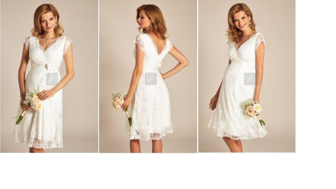 Eden těhotenské svatební šaty krátké - Obrázek č. 1