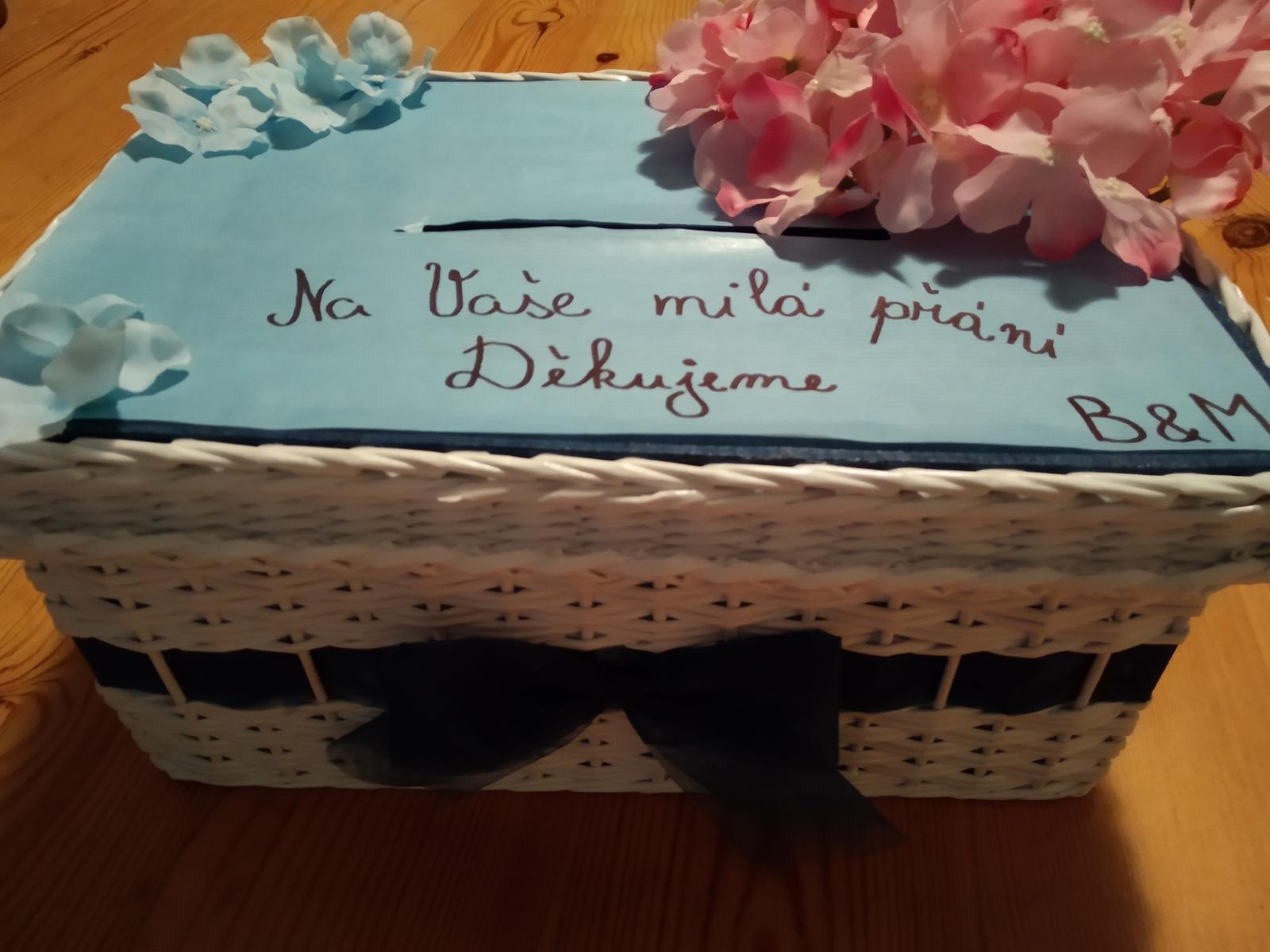 Truhla/krabička na přání s hortenziemi - Obrázek č. 1