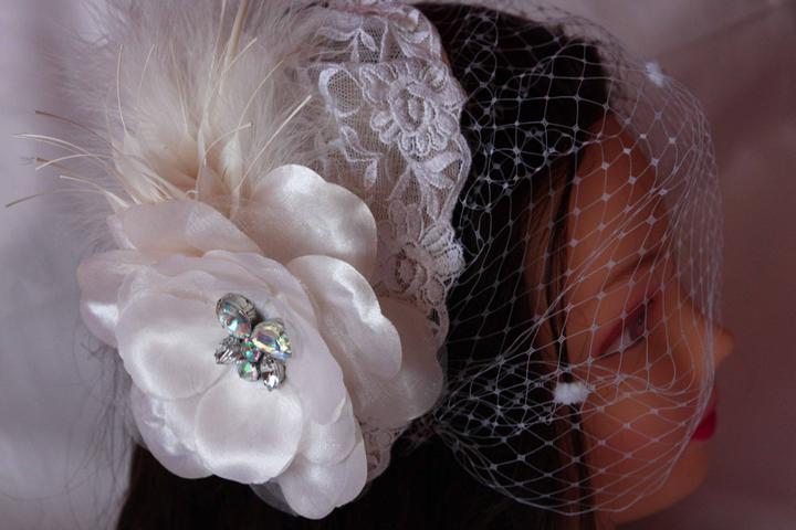 Krasne svadobné doplnky do vlasov - Obrázok č. 5