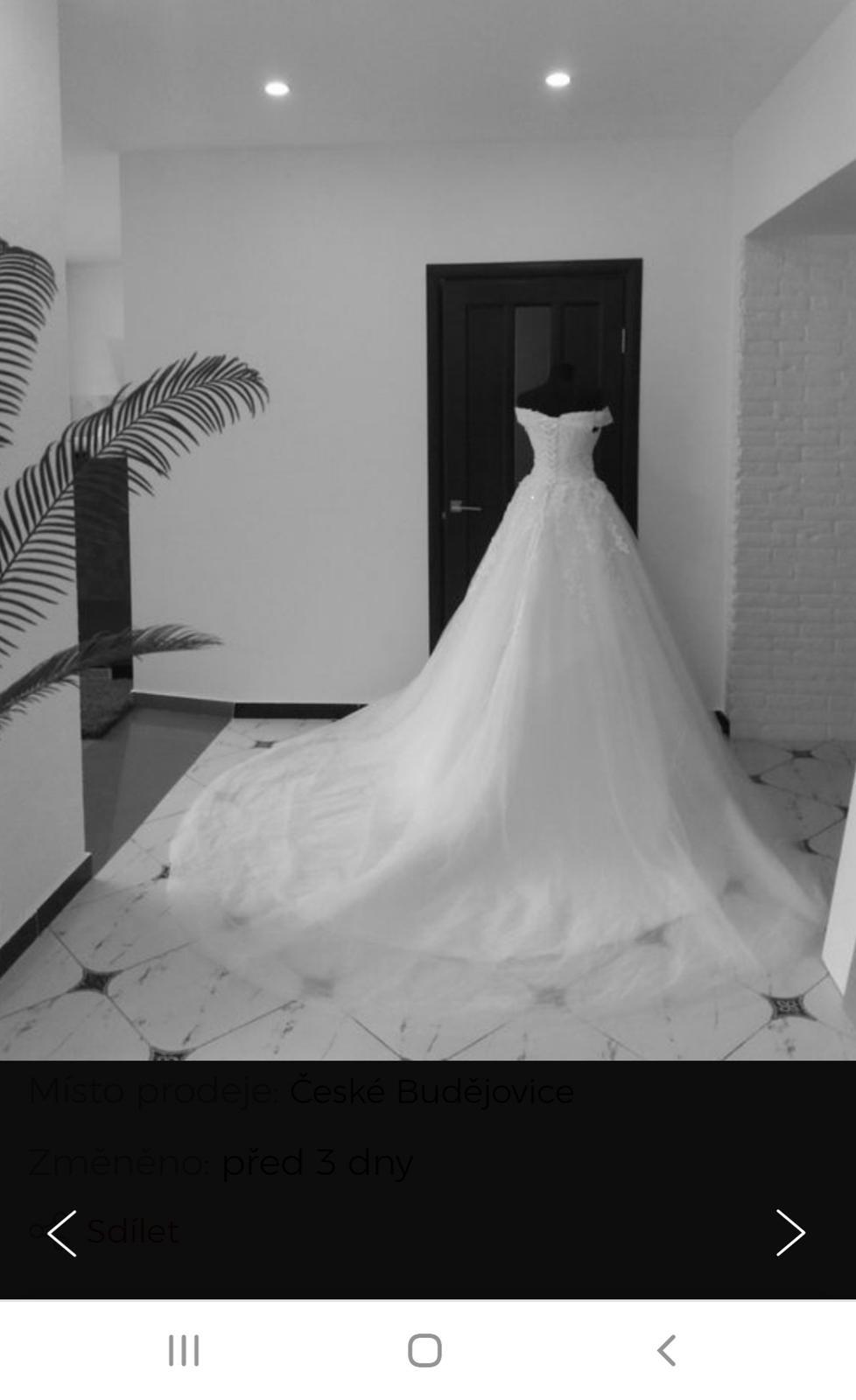 Svatební šaty z vleckou  36 - Obrázek č. 1
