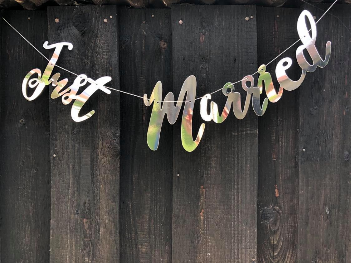 Nápis Just married - Obrázek č. 1
