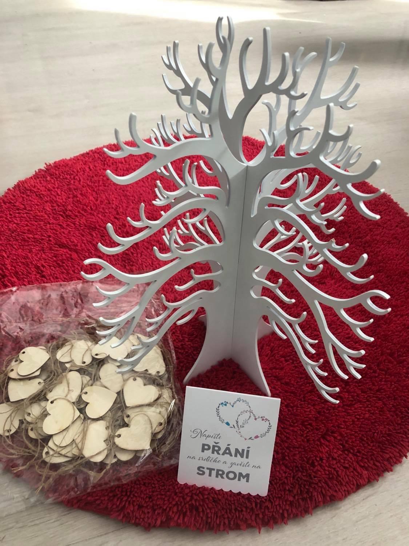 Kniha hostů - Strom života - srdíčka na podpisy - Obrázek č. 1