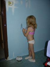 Patrička měla jasnou představu o barvě svého pokoje a zprostředkovala nám názornou ukázku