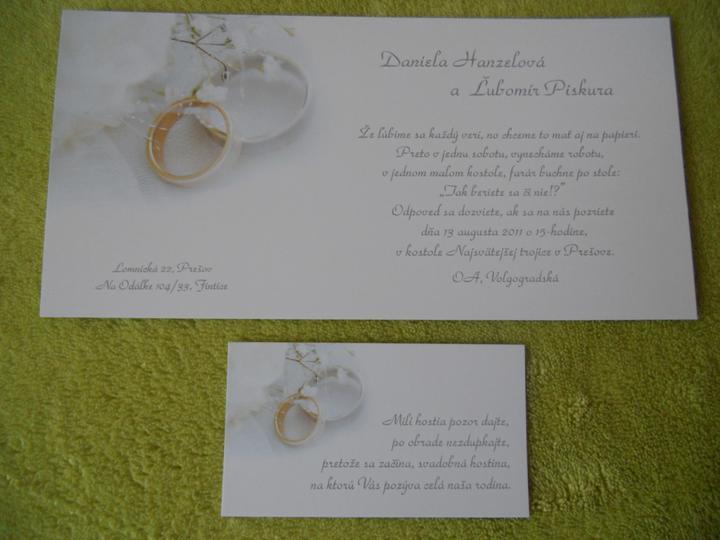 Čo sa mi páči a čo už máme - naše svadobné oznámenia :)