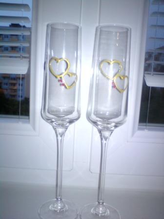 Ako by to malo byt´ - svadobné poháre