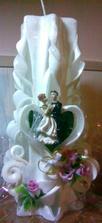 Svíčka na svatební stůl!