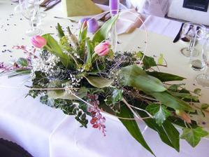 ikebana na stůl měla vypadat nějak takto